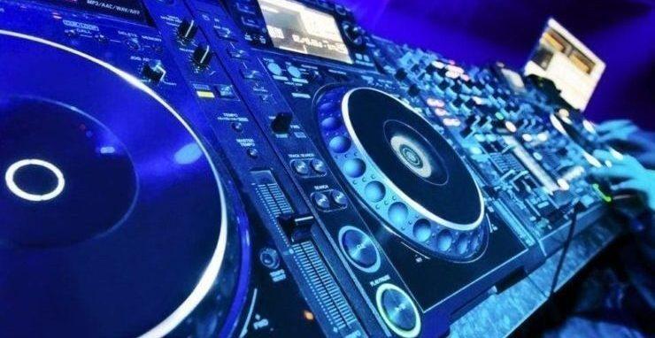 dj equipment in a nightclub