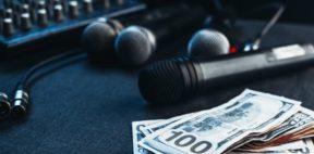 dj equipment next to money