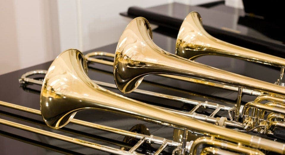 different types of trombones