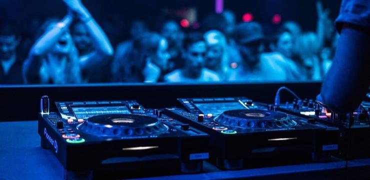 Pioneer DJ equipment in a Club