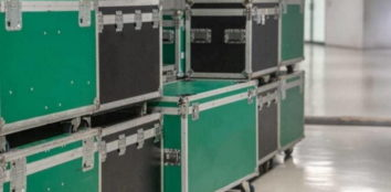 Storage boxes for DJ equipment
