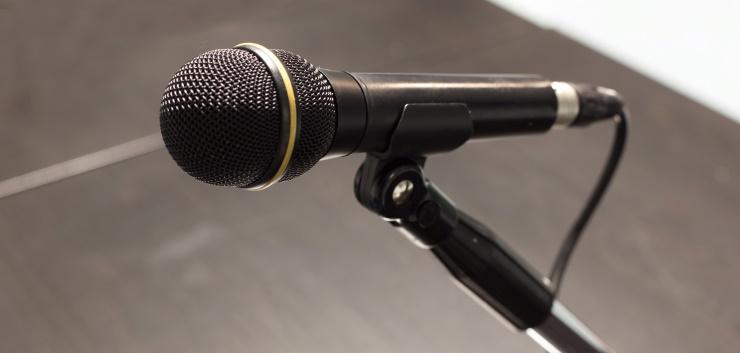a ready-to-use dynamic microphone