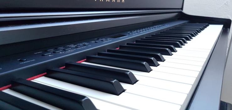 digital black piano