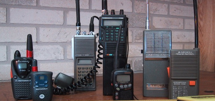 several different types of two way radio